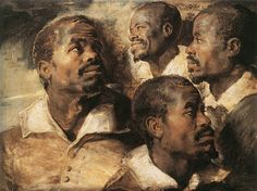Studies of the Head of a Negro by @artistrubens #baroque