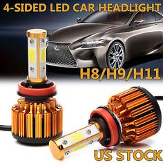 Pcs LED Headlight Kit H11 H9 H8 250W 25000LM 6000K Low Beam Fog Bulb HID White8  Manufacturer Part Number - Does Not Apply, Interchange Part Number - For Car,Truck,Motorcycle Bike,Boats,other vehicle, Other Part Number - H11 6K XENON HID White LED Conversion Head Lamps, Placement on Vehicle - Front, Number of Bulbs - 2, Color Temperature - 6000K, Voltage - DC 9V-36V(fits 12V 24V cars), LED Type - 4pcs Of COB Chips Each Bulb, Beam Angle - 360 Degrees, Heat Control - Solid Aluminum Des
