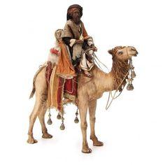 Rei Mago negro com vaso no camelo 18 cm presépio Angela Tripi Christmas Nativity Scene, Christmas Deco, Christmas Tree, Fontanini Nativity, Camelo, Clay Birds, Modelos 3d, Treasure Island, Silent Night