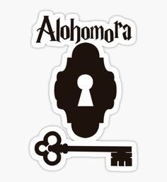 'Alohomora' Sticker by WichuWow Harry Potter Planner, Harry Potter Sketch, Harry Potter Props, Harry Potter Font, Harry Potter Stickers, Harry Potter Drawings, Harry Potter Images, Harry Potter Characters, Hogwarts