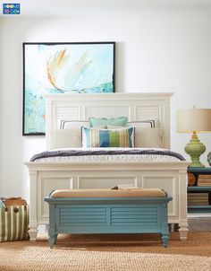 With the look of an island haven, the Belmar Bedroom will be your refreshing retreat at the end of the day.