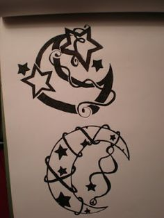 Nice Star Tattoos With Image Tattoo Designs Especially Star Moon Tattoo
