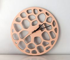 Wooden Clock made with a cnc router.