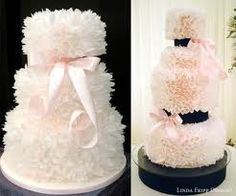floral ruffle wedding cakes - Google Search