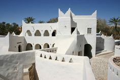 Toubou (indigenous Black Libyan) architecture in Ghadames region of southern Libya
