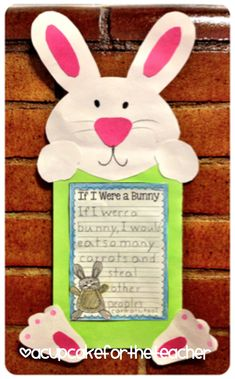 If I were a bunny...cute writing activity for Easter