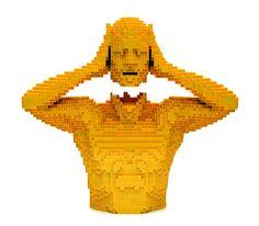 lego sculpture by Nathan Sawaya