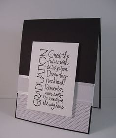 Clean and simple graduation card using product by Kaisercraft, Wordsworth and May Arts, available at The Stamp Simply Ribbon Store.