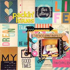 Danielle de Konink for Paper Issues - You're Sew Cute, You Keep Me To Stitches. @paperissuesteam @fancypantsdsgns #paperissues #fancypants #scrapbooking