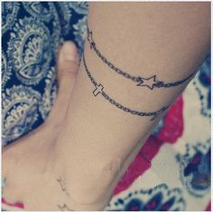 star bracelet tattoo. i think bracelet tattoos are just amazing to begin #tattoo patterns #tattoo design