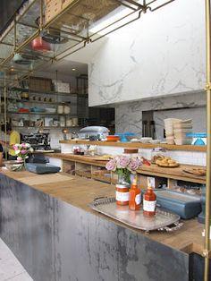 Gjelina glass & copper shelves