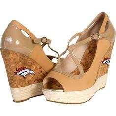 Cuce Shoes Denver Broncos Women's Winning Wedge - Tan