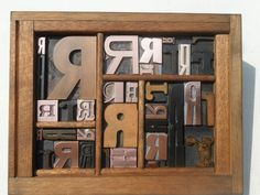 All Letter R Graphic Design Old Letterpress Type Wood & Copper In Type Tray | eBay