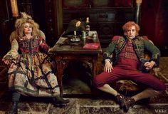 "The Thénardiers:  Helena Bonham Carter and Sacha Baron Cohen in ""Les Misérables"", costumes by Paco del Gado"