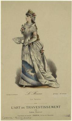 """Winter. """"L'Hiver, Les Saisons. L'art du Travestissement par Léon Sault, Paris."""""""