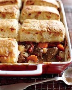 Beef Stew with Blue Cheese Biscuits