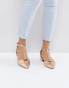 45bb50e1a47 Buy Gold Asos Ballet flat for woman at best price. Compare Ballet flats  prices from online stores like Asos - Wossel Global