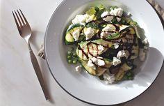 Squashsalat med mynte & gedeost - ChriChri