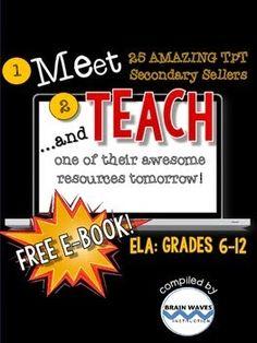 http://www.teacherspayteachers.com/Product/Meet-and-Teach-eBook-ELA-Grades-6-12-Free-1468027