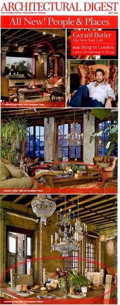 Gerard Butlers NYC Loft.  Custom Furniture + Columns by Designers Views.