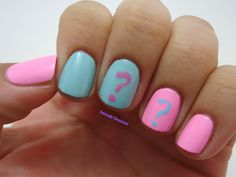 So Cute! We love these nails for a baby shower! We are obsessed!