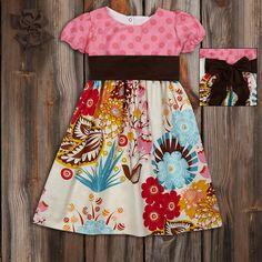 Pink Dot Floral Dress