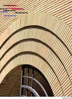 Frank Lloyd Wright on Maiden Lane [.] that's true of Frank Lloyd Wright's one foray into San Francisco, his Maiden Lane vortex that originally housed the V. Brick Detail, King Photo, Frank Lloyd Wright, Brickwork, Facade, Stairs, Architecture, Gallery, San Francisco