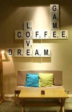 ACK! I would totally do this in the shop! LOVE this idea for like coffee names, or countries, or something...