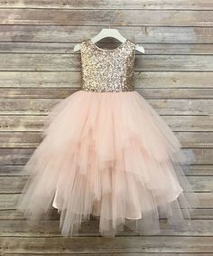 Take a look at this Blush Sequin & Tulle Tutu Dress - Toddler & Girls today!