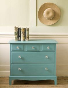pretty turquoise chest of drawers