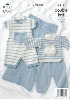 Knitting Patterns Boy Baby Knitting Patterns - lupin and rose Baby Boy Knitting Patterns Free, Knitting For Kids, Baby Patterns, Free Knitting, Loom Knitting, Stitch Patterns, Baby Dungarees, Knitted Baby Clothes, Baby Pants