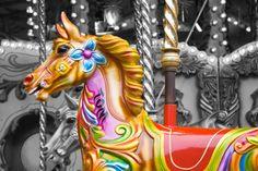 Carousel horse.