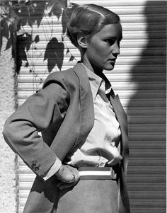 I was tumbling through Tumblr, one of my favourite places on the internet to discover history's lesser-known muses and there, on page thirty-something of my browsing, I stopped at a photograph of an androgynous woman taken by Marianne Breslauer, a name unfamiliar to me. As I began googling her work, my screen was soon taken over by black…