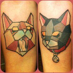 Geometric Cat Tattoos <3