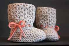 My First Boots - Crochet Baby Pattern