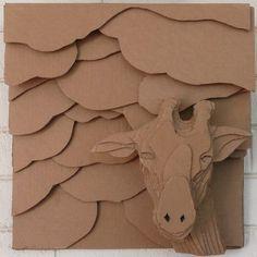 cardboard art great 170 best cardboard relief images of cardboard art Sculpture Lessons, Sculpture Projects, Sculpture Art, Cardboard Sculpture, Cardboard Crafts, Paper Sculptures, Paper Crafts, Primary School Art, Middle School Art