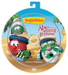 $5.00 Abe and the Amazing Promise Grab and Go DVD - Bob the Tomato tries to bring the Bible story of Abraham and Sarah and their wait for a promised son to life, but when spitting camels and a film crew of zany French peas get involved, everyone's patience is tested! Will Bob pull everything together in time to teach a lesson? Kids will learn that while being patient is never easy, the reward is always worth the wait! Comes with a bonus personalized CD! Abraham Bible Story, Kids Klub, Abraham And Sarah, Veggietales, Bible Stories, Bible Lessons, Sunday School, Homeschool, Camels