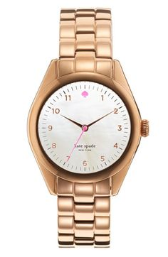 i STILL don't have a rose gold watch :(  kate spade new york 'seaport' bracelet watch #Nordstrom