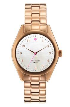 i STILL don't have a rose gold watch :(  kate spade new york 'seaport' bracelet watch #Nordstrom