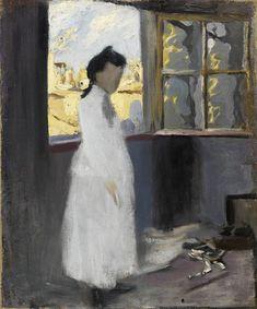 Pablo Picasso. Lola, the Artist's Sister, in the Studio in Riera de Sant Joan. Barcelona, 1900.
