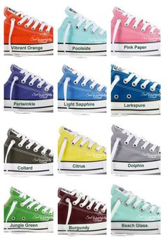 Monogrammed Converse Fresh Colors  Monogrammed Wedding Day Shoes  Fresh  Colors Converse  Monogrammed Converse