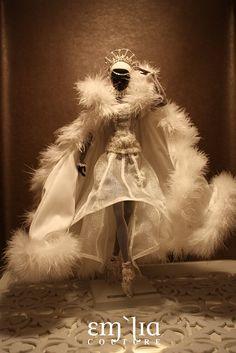 Snow Queen - emiliacouture commission by em`lia Ice Queen, Snow Queen, African American Dolls, African Dolls, Fairy Makeup, Mermaid Makeup, Makeup Art, Fantasy Hair, Fantasy Makeup