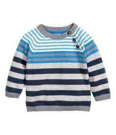 H&M Camisola de malha 9,99 € coleção fall-winter 2014/15  Simples e amorosa para um mini homem! Dos 4m aos 2anos!