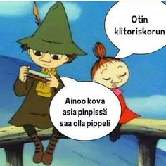 #muumit #muumi #muumimeme #pikkumyy #nuuskamuikkunen Funny Memes, Jokes, Moomin, Little My, Asia, Family Guy, Humor, Motivation, Comics