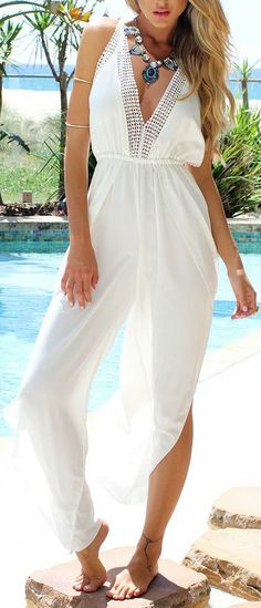 Chiffon Beachy Jumpsuit // I could not pull this off but it's amazing