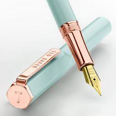 BuyTed Baker Rose Gold Fountain Pen, Aquamarine Online at johnlewis.com