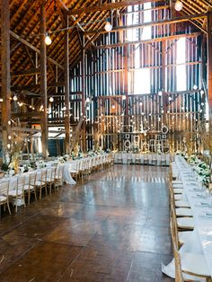 Barn reception. Let there be light!