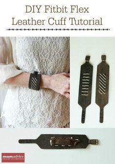 DIY Fitbit Leather Cuff Bracelet Tutorial from MomAdvice.com.