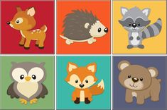 woodland critter clip art | Woodland Critters : Kids Art, Original artwork for Babies, Children ...