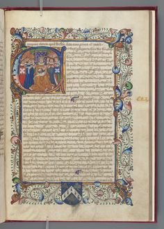England. Sovereign (1461-1470 : Edward IV) Magna Carta ; Nova statuta : manuscript, 1468-1469.  MS Richardson 40  Houghton Library, Harvard University